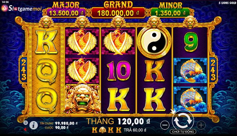 cách chơi slot 5 lions gold