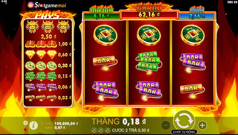 giao diện game fire88