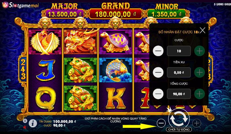 tổng cược jackpot slot game