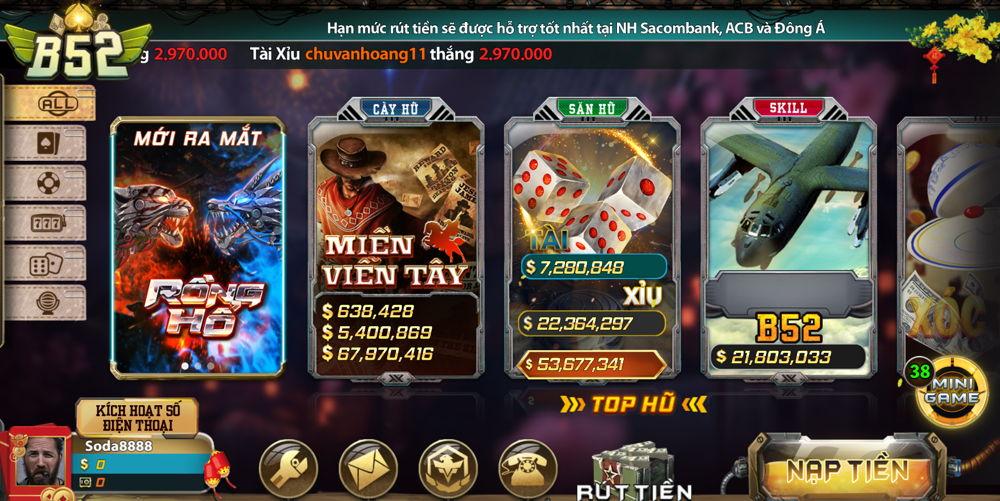 game b52 đổi thưởng
