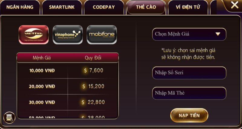 nap tien the cao zowin